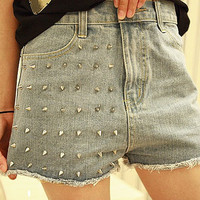 Vintage Inspired High Waisted Denim Shorts With by Chicdelaparis