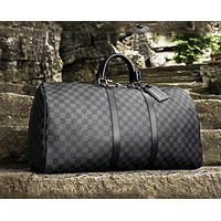 Louis Vuitton LV classic old chess board for men and women travel bags