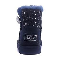 UGG Women Fashion Rhinestone Short Boots Snow Boots Shoes