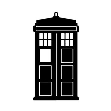 Tardis Doctor Who Decal Sticker for Car Truck Laptop ANY COLOR