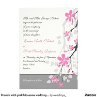 Branch with pink blossoms wedding custom