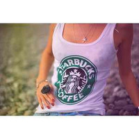 Classic Starbucks Tank Top by SheaBoutique on Etsy