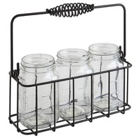 Mason Jars & Caddy Set