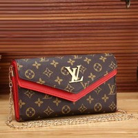 Louis Vuitton Women trending Fashion Print Leather Satchel Shoulder Bag Crossbody Red G