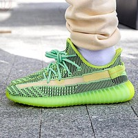 Yeezy Boost 350 V2 Adidas Trending Fresh Color Sports Sneakers Fashion running shoes Fluorescent green
