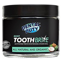 Natural Teeth Whitening Charcoal Powder -Mint Flavor- Made with Organic Coconut Activated Charcoal and Bentonite Clay Formula for Stronger Healthy White Teeth.No need for Strips, Kits or Gel.