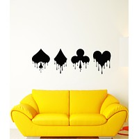 Vinyl Wall Decal Playing Cards Suit Poker Game Game Of Chance Stickers (3777ig)
