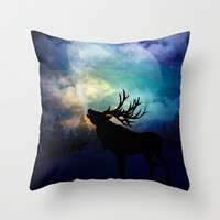 Mid-Winter Moon - The Call Throw Pillow by soaring anchor designs ⚓