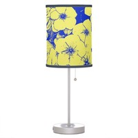 Sunny Yellow Blue Flowers Table Lamps