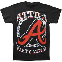 Attila Men's  Party Metal T-shirt Black Rockabilia