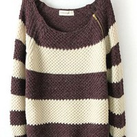 Striped long-sleeved pullover sweater BBCEE from MegaFashion
