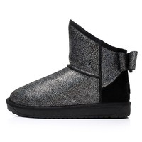 Bling Bling Women's Flat Short Snow Boots Ankle Boots