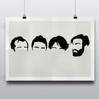 Vampire Weekend (Band Minimal Heads) - Minimalist Poster Print, Minimal Wall Art - Limited Edition of 250