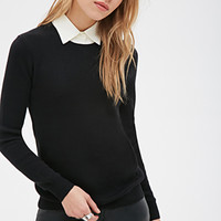 Layered-Collar Sweater
