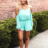 Vacation Dreams Mint Romper