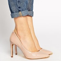 Ted Baker Nude Neevo 2 Pointed Court Shoes at asos.com