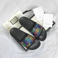 GUCCI Sneaker Disney cooperation Mickey Mouse printing slippers