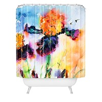 Ginette Fine Art Bearded Iris Vigilante Shower Curtain