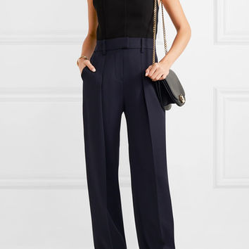 Victoria, Victoria Beckham - Two-tone wool and jersey jumpsuit