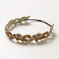Bronzed Leaf Headband by Anthropologie Bronze One Size Hair