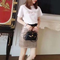 """Balmain"" Woman Casual  Fashion Classic Letter Print Short Sleeve T-shirt Tops"