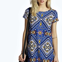 Lorraine Bold Aztec Shift Dress