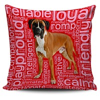 """Boxer Dog 18"""" Pillow Covers"""