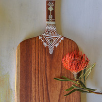 'Light As A Feather' | handcrafted white cedar serving board