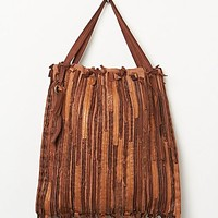 Caterina Lucchi Womens Cosmio Pieced Tote - Cognac One