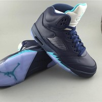 "Air Jordan 5 ""Midnight Navy"" Basketball Shoes 41-47"