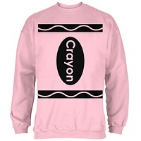 Halloween Crayon Costume Light Pink Adult Sweatshirt