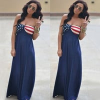 Fashion Sexy Women Summer Boho Long Maxi Evening Party Dress Beach Dresses Chiffon Long Dress = 5739039361