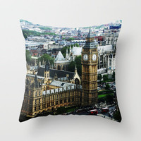 Big Ben Throw Pillow by Ryan James Caruthers | Society6