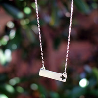 Texas State Love Bar Necklace- Silver – The Simply Dixie Boutique