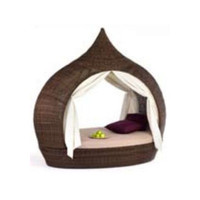 Domus Eye Catcher Double K.D. Daybed with Canopy and Cushion & Reviews | Wayfair