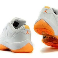 Cheap Air Jordan 11 Retro Low GS Men Shoes Citrus Hot Sale