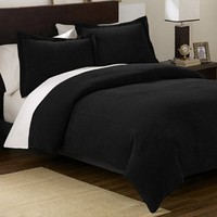 7 Pieces Caprice Coffee and White Hotel Comforter Bed-in-a-bag Set Queen Size