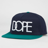 Dope Logo Team Mens Snapback Hat Navy Combo One Size For Men 23969821101