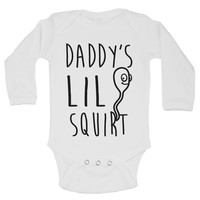 Daddy's Lil Squirt Funny Kids Onesuit