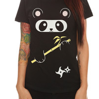 Goodie Two Sleeves Ninja Panda Girls T-Shirt