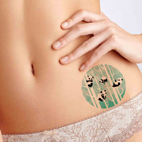 Lazy Panda Tattoo,Fashion Tattoo,Wedding invitation,Wedding Gift