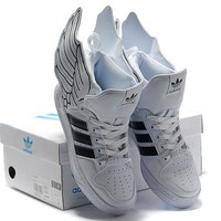 adidas Jeremy Scott wings 2.0 black&white Men Women Sneaker