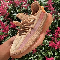ADIDAS yeezy 350 v2 hot sale color matching men and women basketball shoes sports sneakers-11