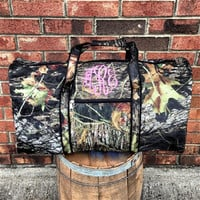 Monogrammed Camouflage Large Duffel Bag
