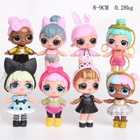 8pcs Lol Surprise Doll Unpacking High-quality Lol Dolls Baby Tear Open Color Change Egg