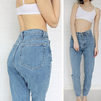 Chic Boyfriend High Waisted Jean Pants Jeans For Women 1886