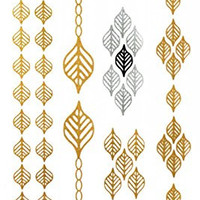 GGSELL GGSELL Flash Temporary Tattoos Golden Gold and Glitter Jewelry design fashion fake tattoo stickers