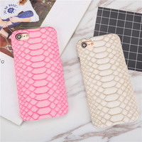 Luxury Sexy Snake Skin Slim Case for iPhone 5 5S SE 6 6S 6plus 6s plus 7 7Plus Leather+Hard Plastic Cell Phone Back Cover Shell