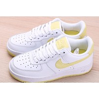 Nike Air Force 1 low light yellow hook
