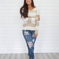 Together Again Sweater - Taupe